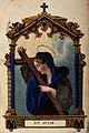 Saint Julia. Coloured stipple engraving. Wellcome V0032366.jpg
