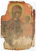 Saint Mary with Christ Icon in Saint Mary Church in Zhurche, First Half of 17th Century.jpg