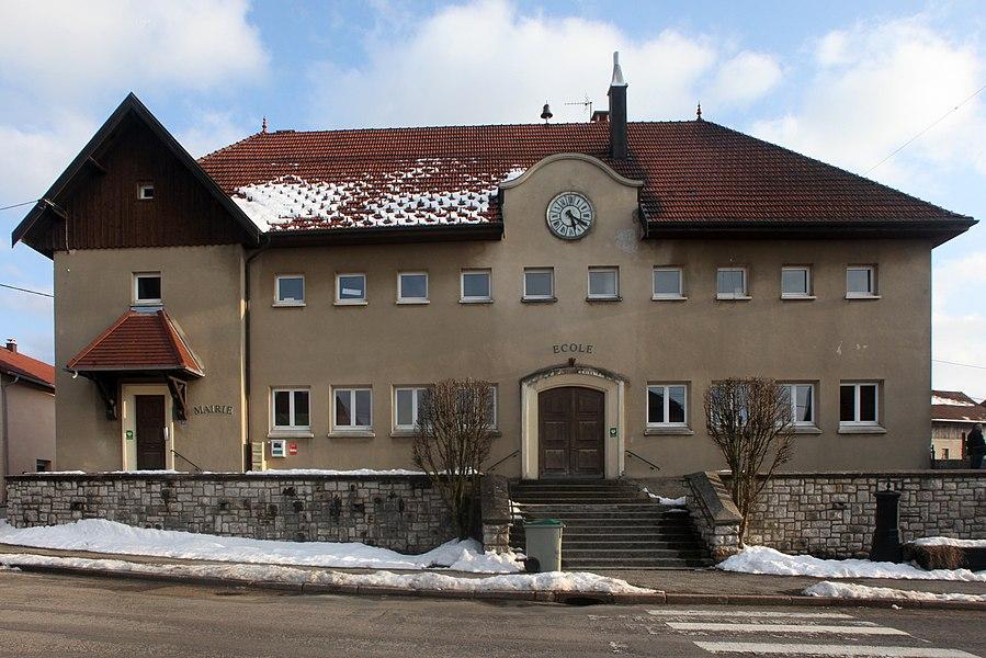 Mairie de Sainte-Colombe (Doubs).