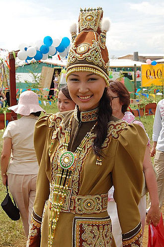 Yakuts - A Yakut woman in traditional dress