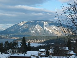 Bastion Mountain, across Salmon Arm of Lake Shuswap
