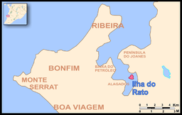Map showing the location of Itapagipe Peninsula