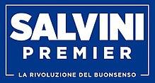 Il logo scelto da Salvini per la campagna elettorale del 2018 ricorda molto quello utilizzato da Donald Trump.