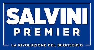 Matteo Salvini - The logo chosen by Salvini for the 2018 electoral campaign, which resembles that of Donald Trump