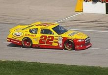 Yellow-and-red number-22 car