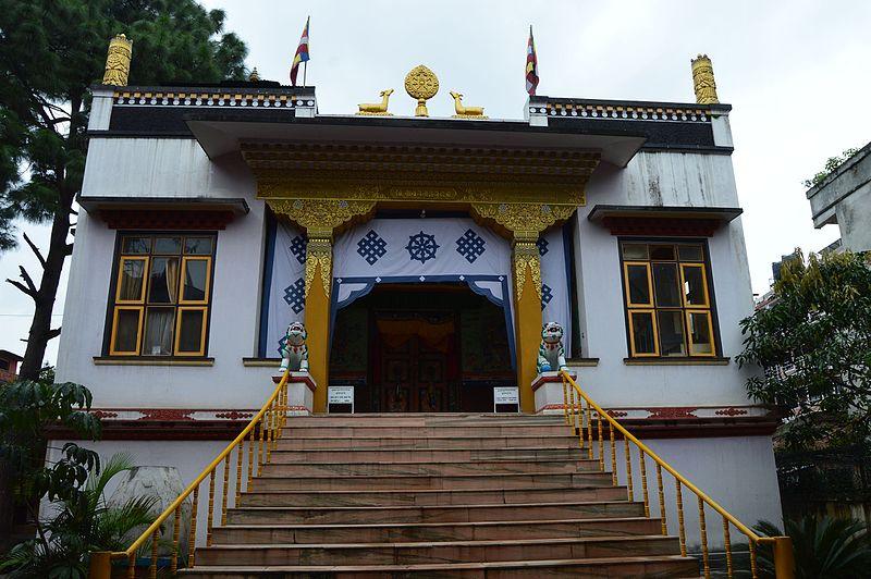 File:Samteling Monastery Near Boudha stupa 02.jpg