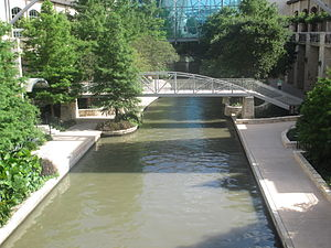 San Antonio River Walk - San Antonio River Walk at West Market Street between the Westin Hotel and the Alamodome