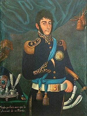 Legacy of José de San Martín - Portrait of San Martín by José Gil de Castro. It is the first known case when San Martín posed for a portrait.