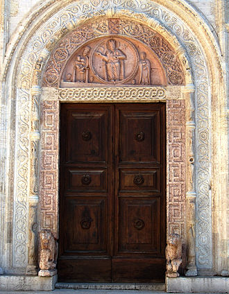 Assisi Cathedral - Central portal