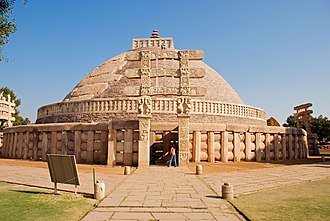 Buddhist architecture - The Great Stupa in Sanchi