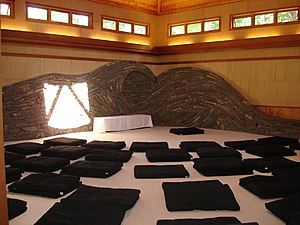 Omega Institute for Holistic Studies - Sanctuary (meditation hall) at Omega Institute, Rhinebeck, New York.