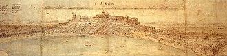 Steven van der Hagen - Panorama of Sanlucar by Antonie van Wijngaarden in 1567