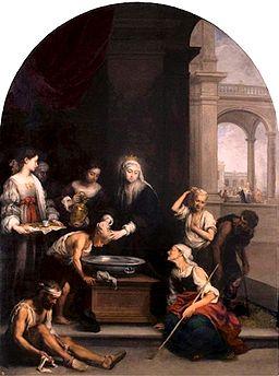 Santa Isabel de Hungría curando tiñosos.