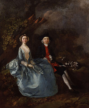 Joshua Kirby - 'Sarah Kirby (née Bull) and Joshua Kirby, by Thomas Gainsborough.