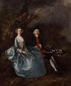 Joshua Kirby - 'Sarah Kirby (née Bull) and Joshua Kirby, by Thomas Gainsborough.