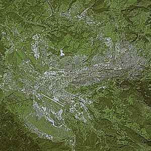 Satellite image of the Sarajevo Urban Area