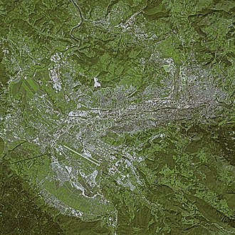 Sarajevo - Sarajevo seen from SPOT Satellite