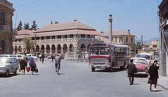 Northern Cyprus - Sarayönü Square of  North Nicosia in 1969, after the division of the city