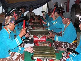 Gamelan Sekaten - Sarons of the Gamelan Sekati in Yogyakarta