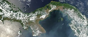 Outline of Panama - An enlargeable satellite image of Panama