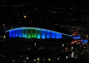 2011 World Men's Handball Championship - Image: Scandinavium Gbg by night