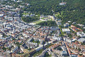 Karlsruhe - View over Karlsruhe