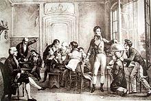 Schulszene in Reichenau, rechts stehend Louis-Philippe (Quelle: Wikimedia)