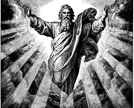 An image of God the Father by Julius Schnorr, 1860 Schnorr von Carolsfeld Bibel in Bildern 1860 001.png