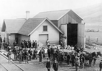 Scofield, Utah - Coffins waiting for transport to disaster site