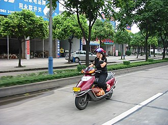 Xiaolan - Image: Scooter Rider in Xiaolan