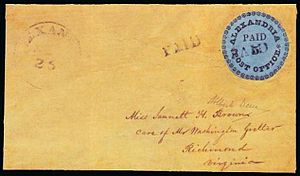 "Alexandria ""Blue Boy"" Postmaster's Provisional - The Alexandria ""Blue Boy"" cover"