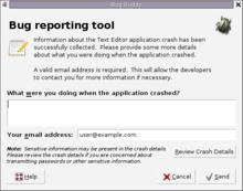 Crash reporter - Wikipedia