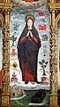 Scuola ligure, immacolata concezion e santi, xvi secolo, dalla ss. annunziata a savona, 07 maria tra attributi mariani 01.jpg