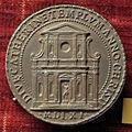 Scuola romana, medaglia di pio IV, santa caterina dei funari.JPG