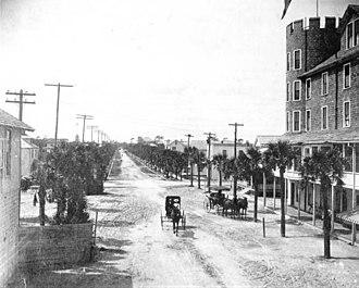 Seabreeze, Florida - Westbound view down Ocean Blvd. (Seabreeze Blvd.), 1902