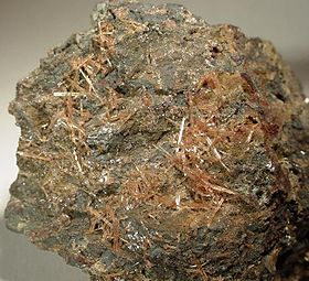 Seamanite, Chicagon mine, Menominee iron range, Comté d'Iron, Michigan, USA, 5 x 4 x 3 cm