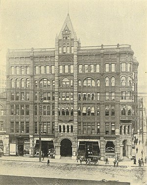 Pioneer Building (Seattle) - Image: Seattle Pioneer Building 1900