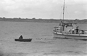 Seaweek 1959 in Den Helder , koppen van Admiraal Burghart , commandant zeemacht,, Bestanddeelnr 910-5319.jpg