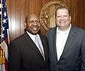Secretary Alphonso Jackson with Drew Carey 207-DP-8842-DC3566.jpg