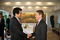 Secretary Geithner Greets Japan's Finance Minister Jojima (8076534988).jpg