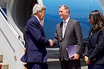 Secretary Kerry is Greeted by the U.S. Ambassador Beecroft Upon His Arrival to Cairo (26513498896).jpg
