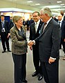 Secretary Tillerson Shakes Hands With NATO Deputy Secretary General Gottemoeller Before NATO Foreign Ministerial in Brussels (33368549740).jpg