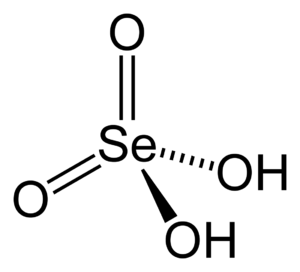 Selenic acid - Image: Selenic acid 2D