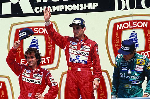 Senna Prost e Boutsen Montreal 1988