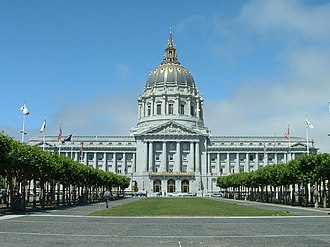49-Mile Scenic Drive - San Francisco City Hall, the starting and ending route marker