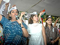 Shabana, Urmila and Dia supporting Anna Hazare's movement.jpg