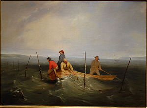 William Ranney - Shad Fishing on the Hudson by William Tylee Ranney, 1846, oil on canvas - New Britain Museum of American Art