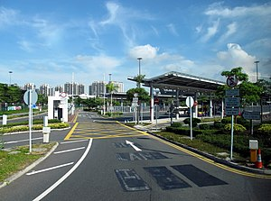Shenzhen Bay Control Point - Shenzhen Bay Control Point Bus stop (Hong Kong side)