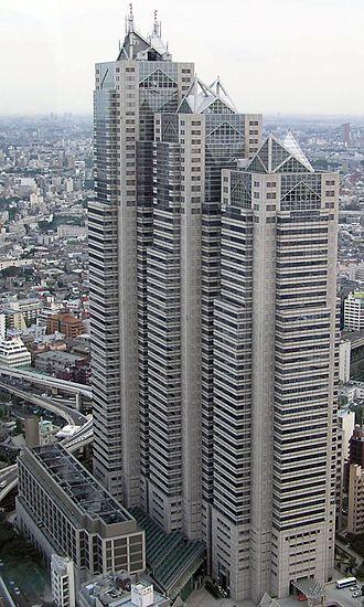 Shinjuku Park Tower - Shinjuku Park Tower as seen from Tokyo Metropolitan Government Building