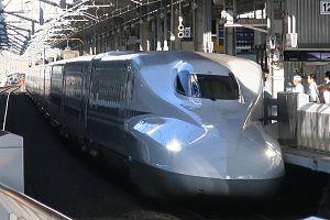 Shinkansen N700 series at Kyoto station 2016-10-07